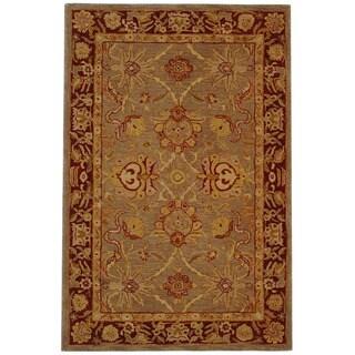 Safavieh Handmade Anatolia Oriental Traditional Grey/ Rust Hand-spun Wool Rug (4' x 6')