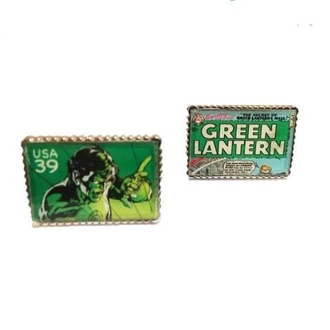 Penny Black Green Lantern Cufflinks