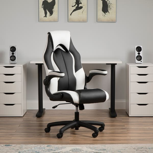 Shop Ofm Essentials Collection High Back Racing Style Bonded Leather Gaming Chair Ess 3086 Overstock 25640080