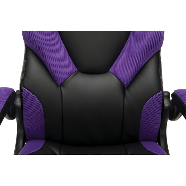 Shop Ofm Essentials Collection Racing Style Bonded Leather Gaming Chair Ess 3085 Overstock 25640082