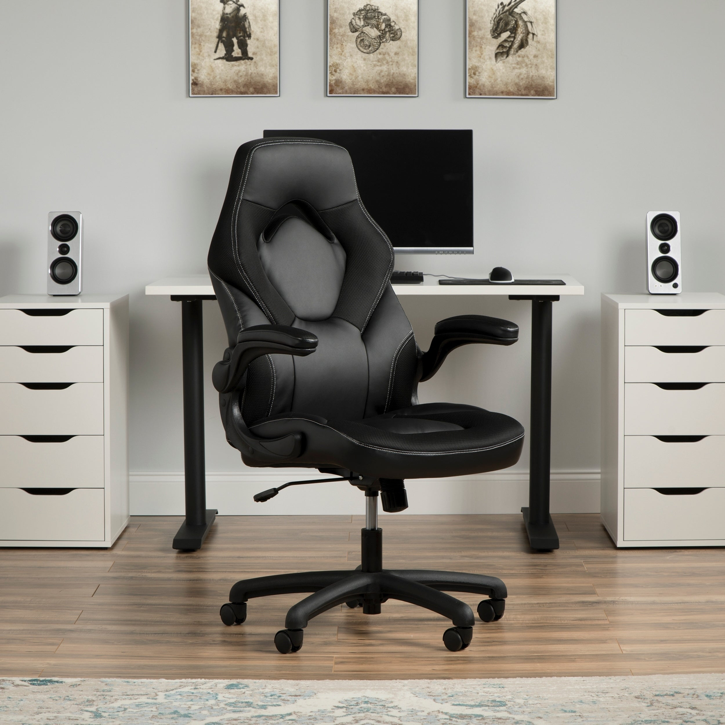 Ofm Essentials Collection Racing Style Bonded Leather Gaming Chair Ess 3085 On Sale Overstock 25640082