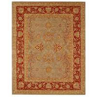 Safavieh Handmade Anatolia Oriental Traditional Grey/ Rust Hand-spun Wool Rug - 5' x 8'