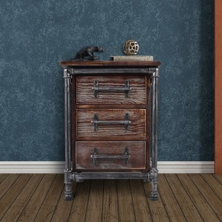 Warren Chest in Silver Brushed Gray with Rustic Pine Wood