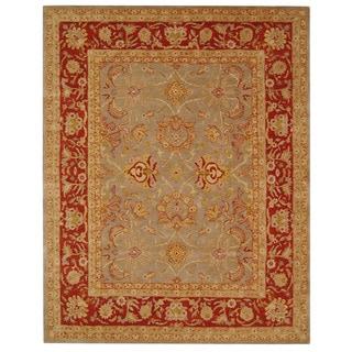 Safavieh Handmade Anatolia Oriental Traditional Grey/ Rust Hand-spun Wool Rug (6' x 9')
