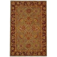 Safavieh Handmade Anatolia Oriental Traditional Grey/ Rust Hand-spun Wool Rug - 6' x 9'