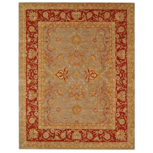 Safavieh Handmade Anatolia Oriental Traditional Grey/ Rust Hand-spun Wool Rug - 8' x 10'