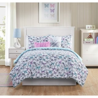 VCNY Home Fly Free Reversible Butterfly Comforter Set