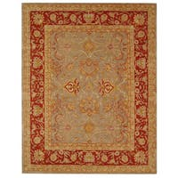 Safavieh Handmade Anatolia Oriental Traditional Grey/ Rust Hand-spun Wool Rug - 9' x 12'