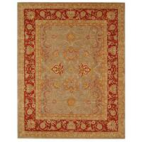 "Safavieh Handmade Anatolia Oriental Traditional Grey/ Rust Hand-spun Wool Rug - 9'6"" x 13'6"""