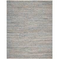 Safavieh Hand-Woven Cape Cod Stripe Natural/ Blue Jute Rug - 9' x 12'