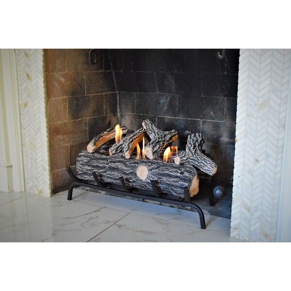 Shop Terra Flame Ventless Gel Fuel Log Set Free Shipping