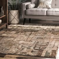 nuLOOM Brown Contremporary Abstract Melange Faded Mural Area Rug