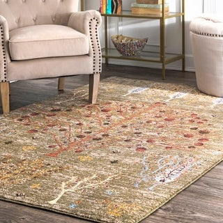 The Curated Nomad Bluxome Olive Tree Of Life Paysage Faded Area Rug