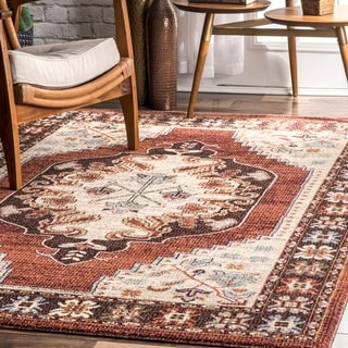 Porch & Den West Armitage Multicolor Medallion Border Area Rug