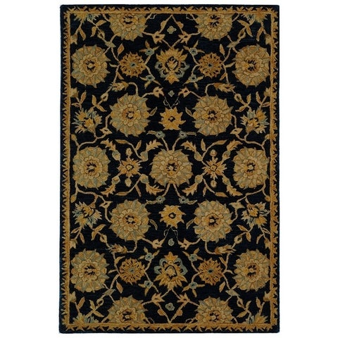 Safavieh Handmade Anatolia Traditional Navy Wool Rug - 6' x 9'