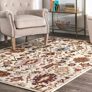 The Curated Nomad Bluxome Oriental Bloom Area Rug