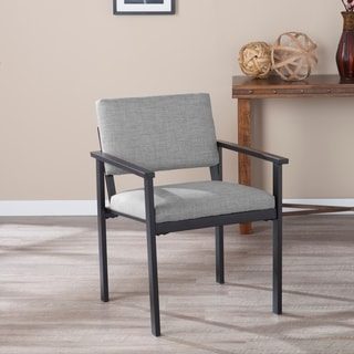Shop Madison Charcoal Linen Lounge Chair Free Shipping