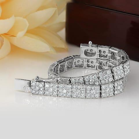 Auriya 6 carat TW Pave Diamond Bracelet 14k White Gold - 8-inch