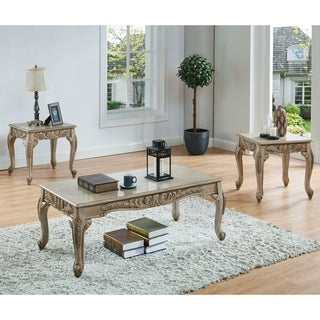 Furniture of America Drew Traditional White 3-piece Accent Table Set