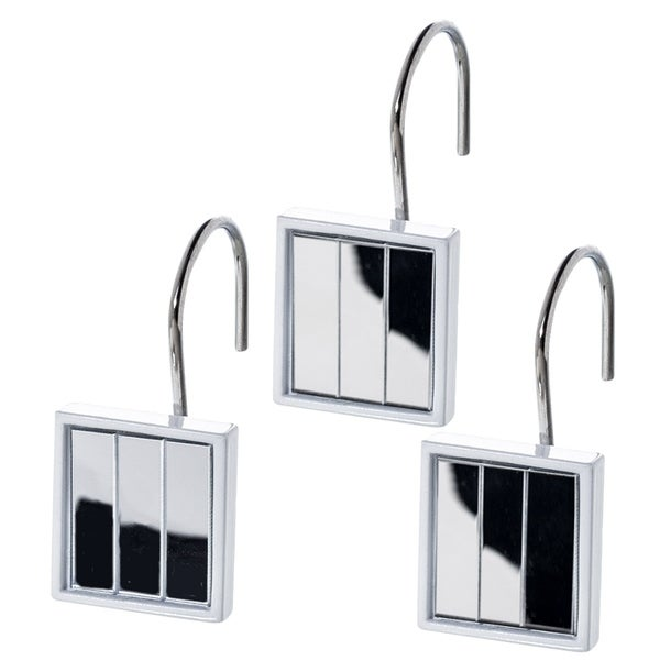 Shop Quilted Mirror Resin Shower Curtain Hooks Set Of 12