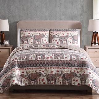Porch & Den Lafollett Elephant Print Quilt Set