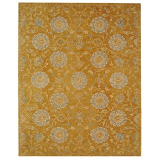 Safavieh Handmade Anatolia Oriental Medallions Gold Hand-spun Wool Rug (8' x 10')