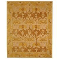 Safavieh Handmade Anatolia Oriental Traditional Beige/ Gold Hand-spun Wool Rug - 5' x 8'