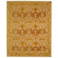 Safavieh Handmade Anatolia Oriental Traditional Beige/ Gold Hand-spun Wool Rug (6' x 9') - 6' x 9'