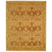 Safavieh Handmade Anatolia Oriental Traditional Beige/ Gold Hand-spun Wool Rug - 9' x 12'