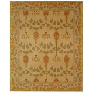 Safavieh Handmade Anatolia Oriental Traditional Ivory/ Green Hand-spun Wool Rug (8' x 10')