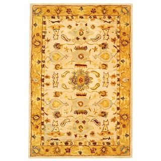 Safavieh Handmade Tribal Ivory/ Gold Wool Rug (2' x 3')