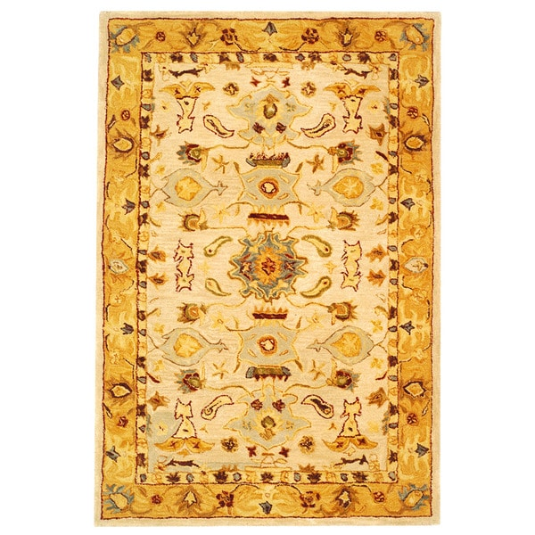 Safavieh Handmade Tribal Ivory/ Gold Wool Rug (3' x 5')