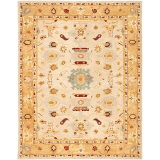 Safavieh Handmade Anatolia Oriental Traditional Ivory/ Gold Hand-spun Wool Rug (8' x 10')
