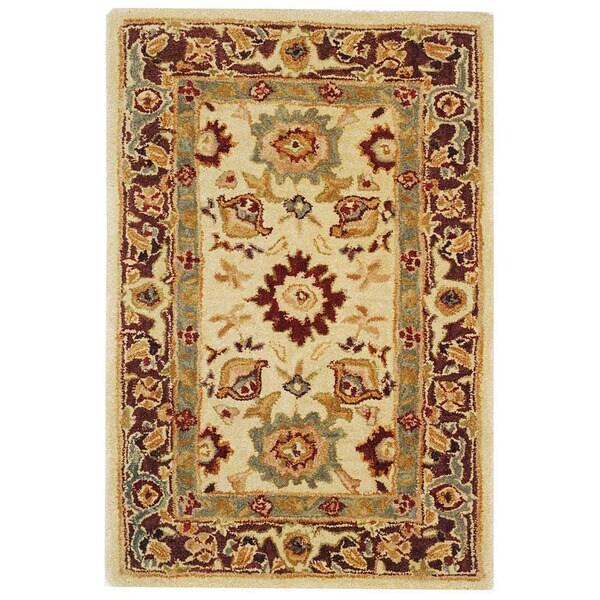 Safavieh Handmade Heirloom Ivory Wool Rug (2' x 3')