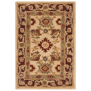 Safavieh Handmade Anatolia Oriental Heirloom Ivory Hand-spun Wool Rug (2' x 3')