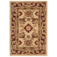 Safavieh Handmade Anatolia Oriental Heirloom Ivory Hand-spun Wool Rug - 2' x 3'