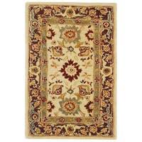 Safavieh Handmade Anatolia Oriental Heirloom Ivory Hand-spun Wool Rug - 3' x 5'