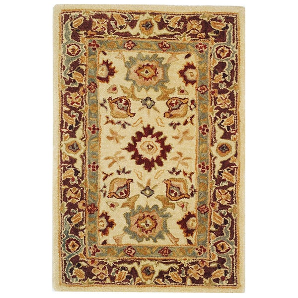 Safavieh Handmade Heirloom Ivory Wool Rug (3' x 5')