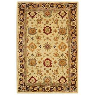 Safavieh Handmade Anatolia Oriental Heirloom Ivory Hand-spun Wool Rug (5' x 8')