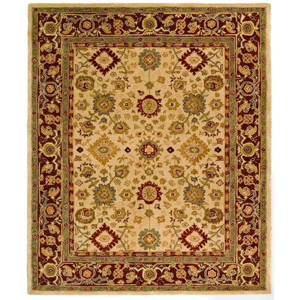 Safavieh Handmade Heirloom Ivory Wool Rug (8' x 10')
