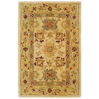 Safavieh Handmade Heirloom Ivory/ Gold Wool Rug (2' x 3')
