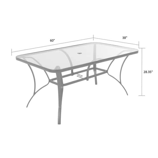 Shop Cosco Outdoor Living Steel Patio Dining Table With