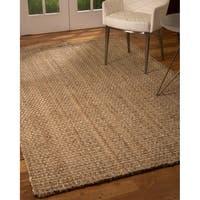 Natural Area Rugs Handmade Basketweave Chunky Conrad Jute Rectangular Rug (8'X10') Beige - 8' x 10'