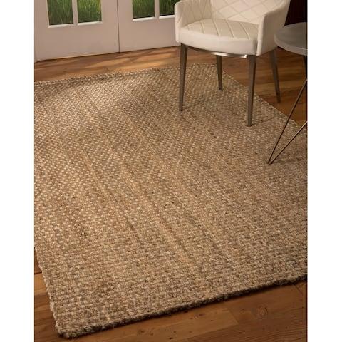 Natural Area Rugs 100% Natural Fiber Handmade Basketweave Chunky Conrad Jute Rectangular Rug (9' X 12') Beige - 9' x 12'