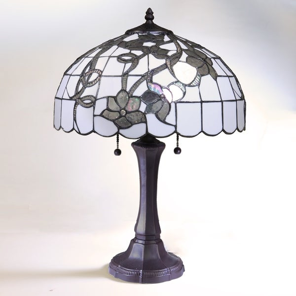 Cool Chelsea White And Silver Tiffany Style Table Lamp With 16 Inch Shade Home Interior And Landscaping Mentranervesignezvosmurscom