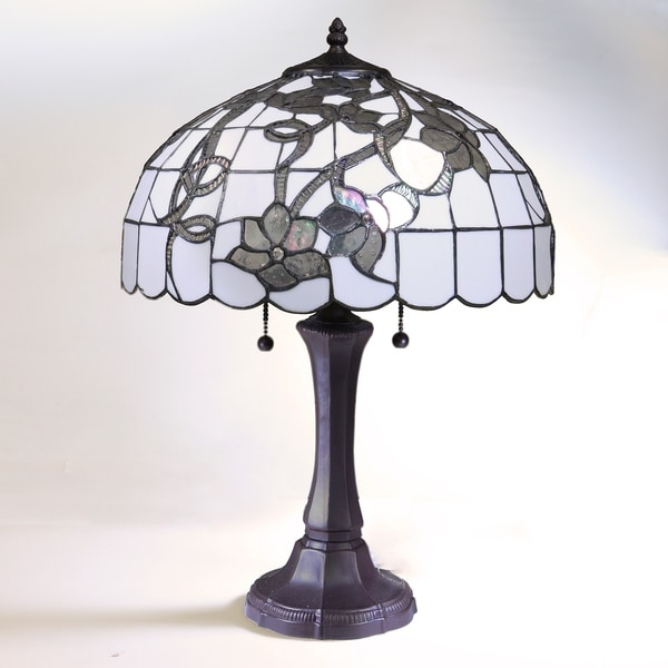 Fabulous Chelsea White And Silver Tiffany Style Table Lamp With 16 Inch Shade Interior Design Ideas Inesswwsoteloinfo