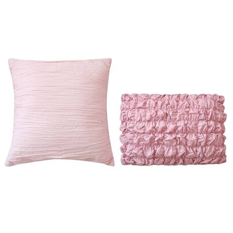 Sara B. Blushing Rose Throw Pillow Set