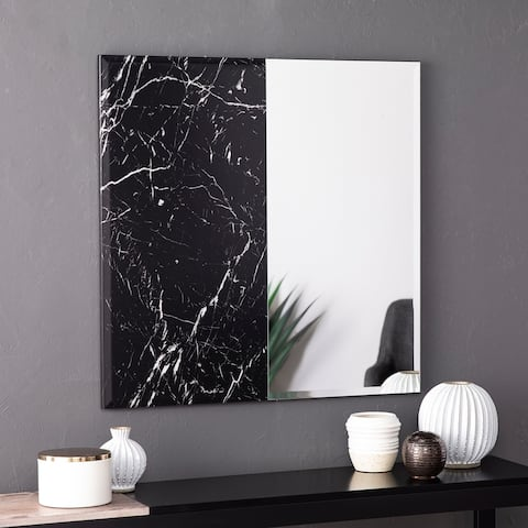 Holly & Martin Bowers Square Faux Marble Accent Wall Mirror