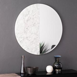 Holly & Martin Bowers Round Decorative Wall Mirror - White