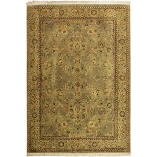 Agra Pak-Persian Tami Lt. Green/Lt. Green Wool Rug (10'1 x 14'3) - 10 ft. 1 in. x 14 ft. 3 in.